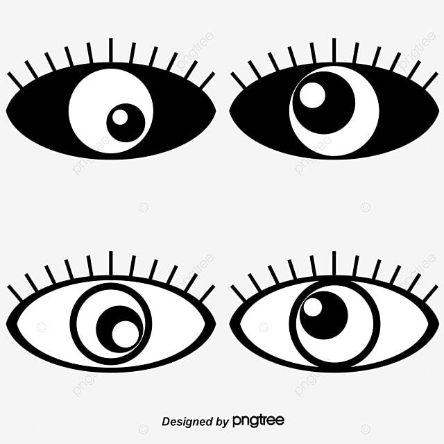 Simple eye icon, Cartoon, Eye, Vector Eyes PNG and Vector ...