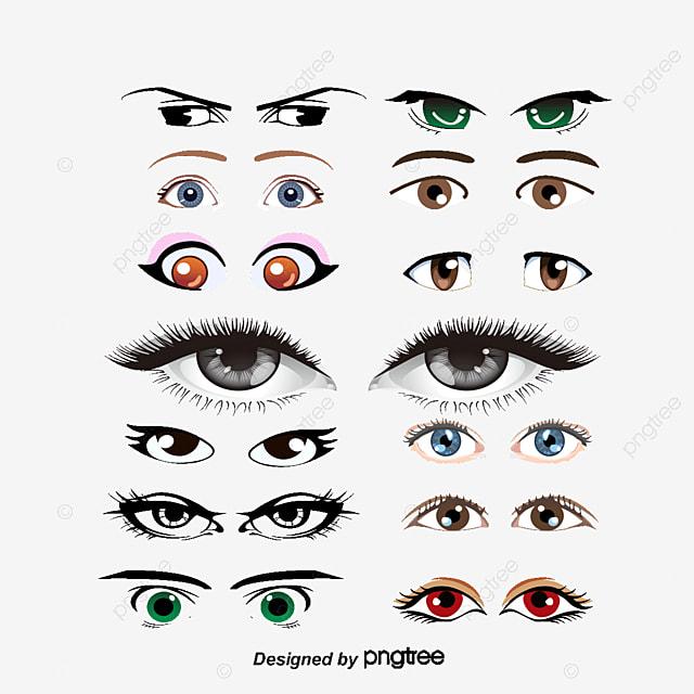 cartoon oeil bleu vecteur oeil gauche oeil droit les deux yeux png et vecteur pour