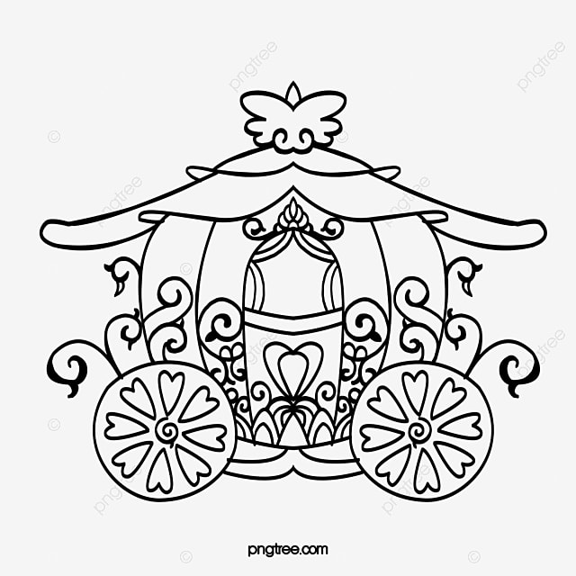 Black Cartoon Pumpkin Carriage Cartoon Clipart The Pumpkin