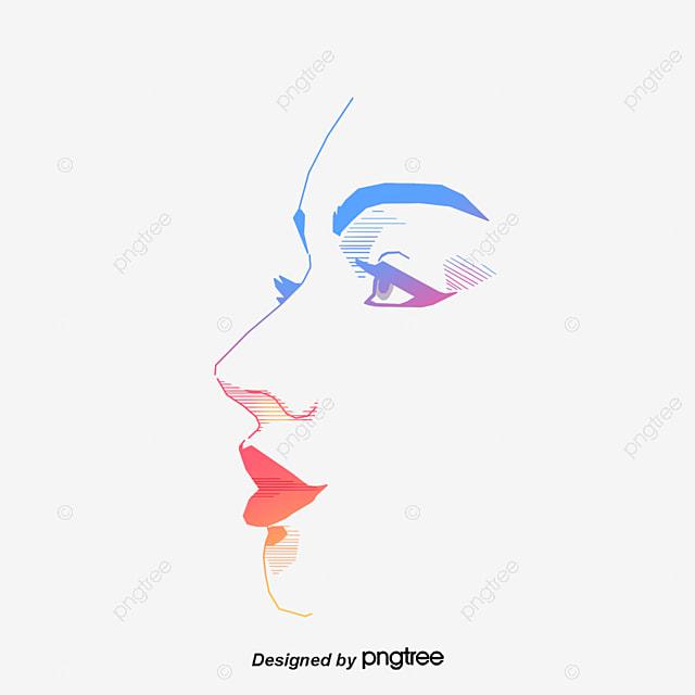 le visage d un vecteur femme visage les yeux la ligne png
