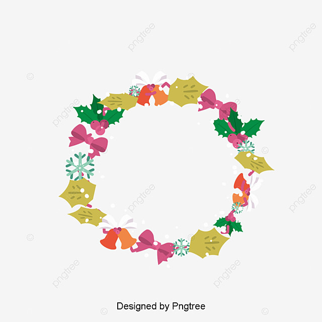Lovely Christmas garlands, Vector Png, Christmas ...