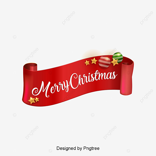 Merry christmas ribbon decoration, Red Ribbon, Christmas, Merry ...