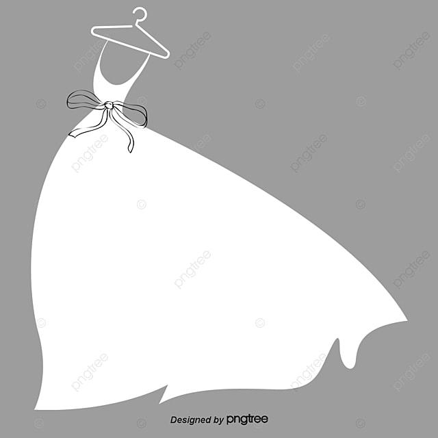 Cartoon Beautiful Wedding Dress Cartoon Vector Wedding Vector