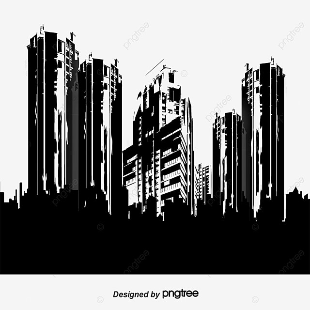 City Silhouette Sketch Png And Vector For Free Download