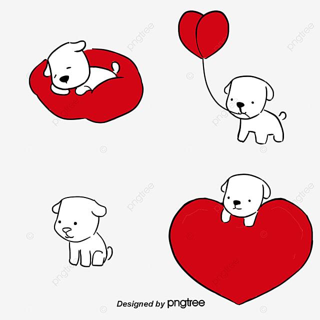 L amour aime le dessin de chien l amour l amour dessin de chien png et vecteur pour - Dessin de l amour ...