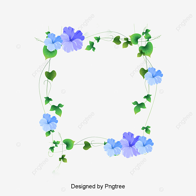 pretty floral border pretty flowers frame png image and