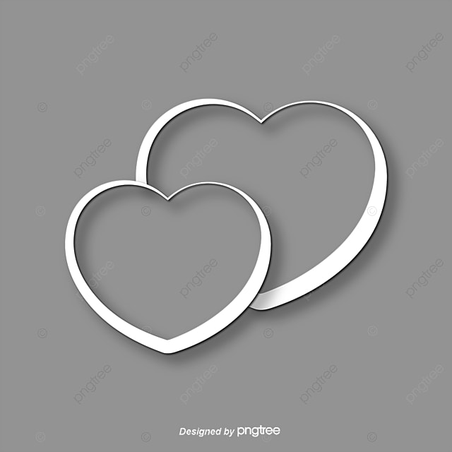 White Heart Shaped Pattern White Heart Shaped Valentines Day Png
