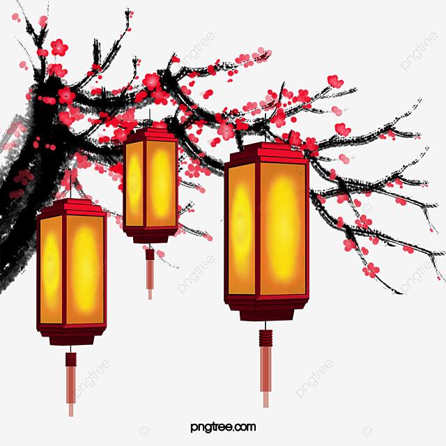 Chinese New Year Decorative Lanterns Hanging Bloom Lantern Bloom