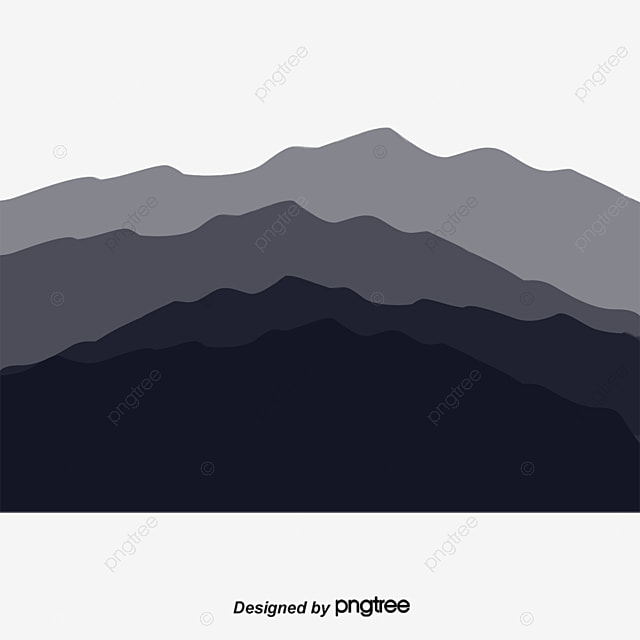Creative mountains silhouette vector material mountain Mountain silhouette
