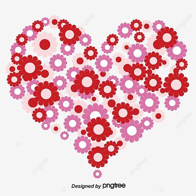 coeur de fleur d amour en forme de coeur fleur romantique