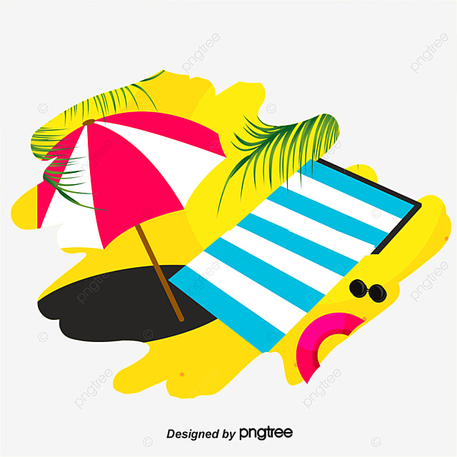 verano playa dibujo de vector de material paraguas de sol clipart palm tree png clip art palm trees free