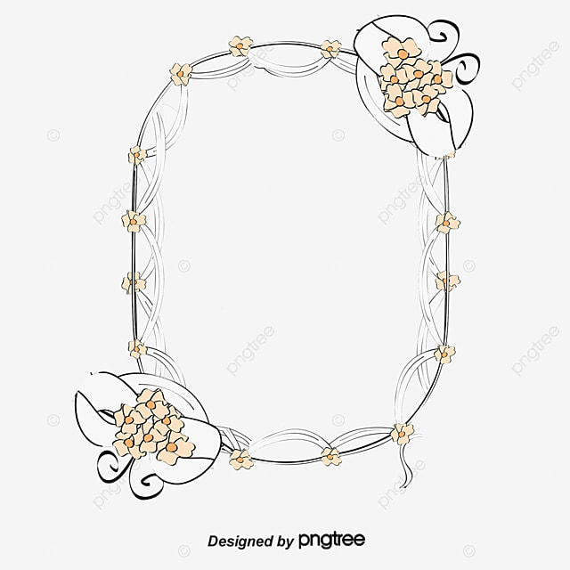 Gold Frame, Flowers, Plant PNG and PSD File for Free Download