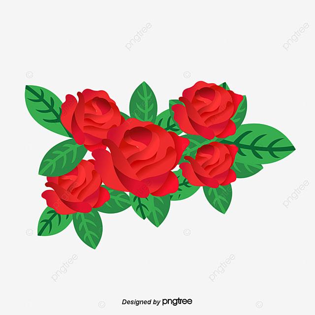 Dibujos De Rosas Rojas Cartoon Rojo Rose Png Y Vector Para Descargar