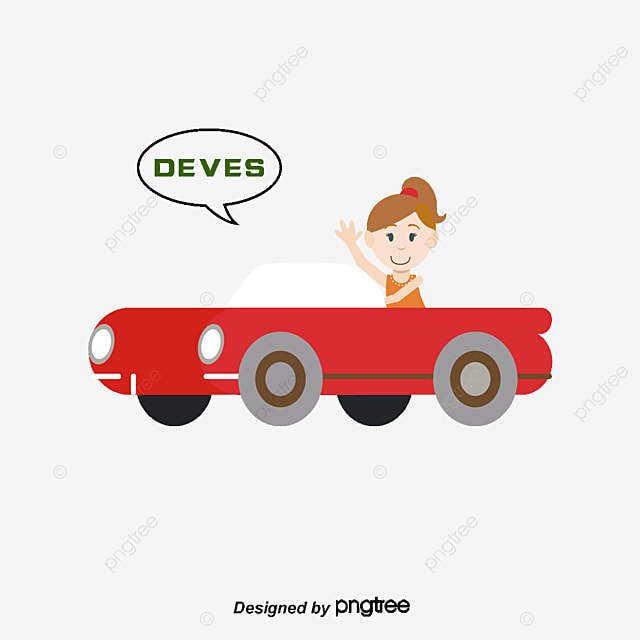 drive a car cartoon characters girl png and vector for free download. Black Bedroom Furniture Sets. Home Design Ideas