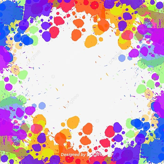 Color Ink Border, Color, Ink Marks, Frame PNG And Vector