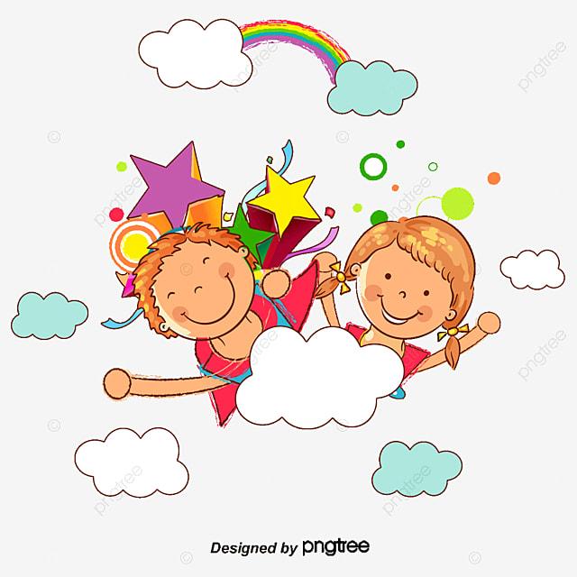 Ilustrador De Los Niños De Dibujos Animados Dia Del Niño Ilustración