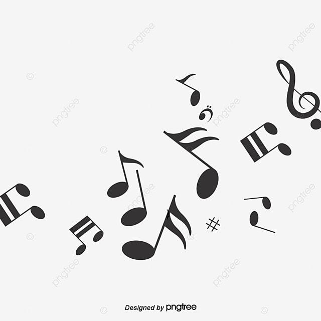 desenhos de notas musicais cartoon preto notas png imagem free clip art musical notes and staffs free clipart music notes