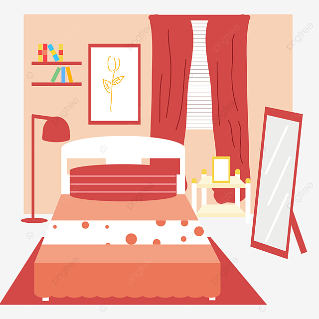 Cartoon Bedroom Decoration Comic Picture Children S Room Decoration Design Interior Decoration Design Png And Vector With Transparent Background For Free Download