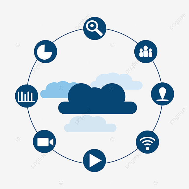 Cloud Computing Infographic, Wechat, Mobile App Icon, Computer PNG