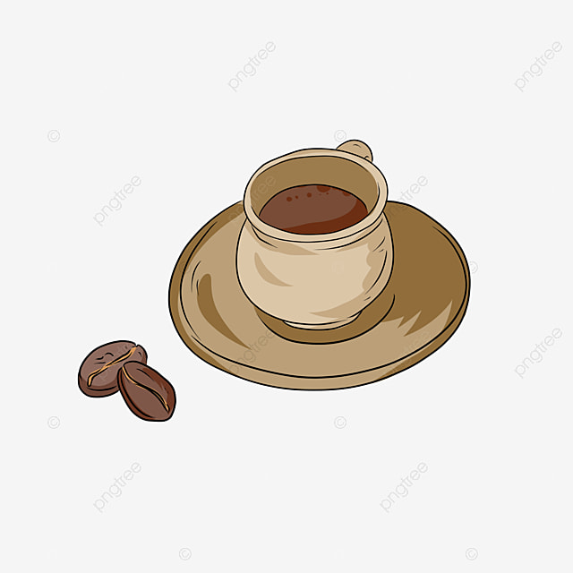Delicious Coffee And Coffee Beans Vector, Catering, Drinks