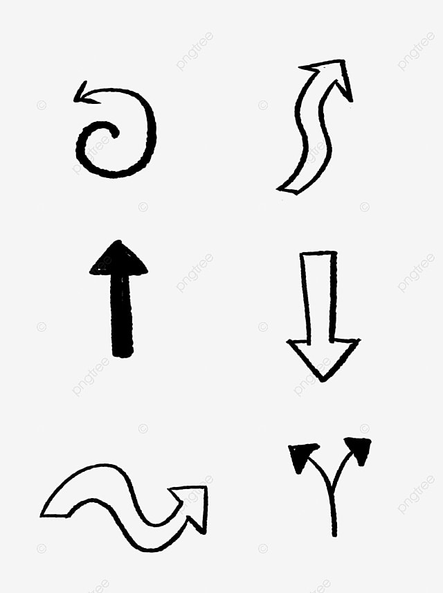 Vector Hand Drawn Arrows Arrow Hand Drawn Black And White