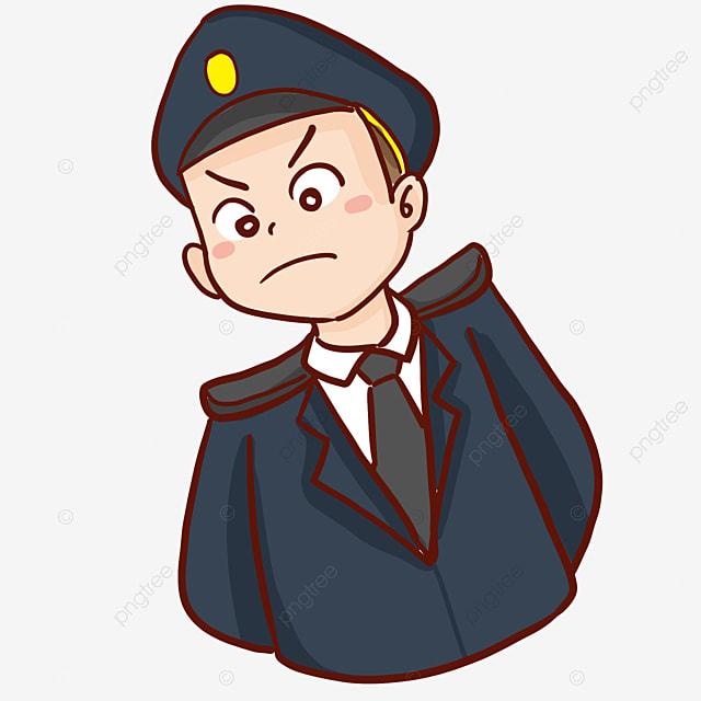 Gambar Kartun Tangan Digambar Ilustrasi Polis Tangan Digambar Yang Marah Png Dan Psd Untuk Muat Turun Percuma