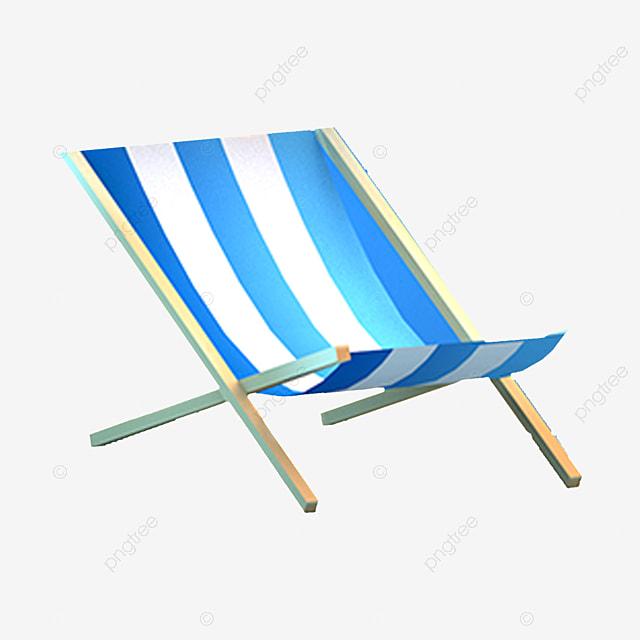 chaise longue bleu dessin