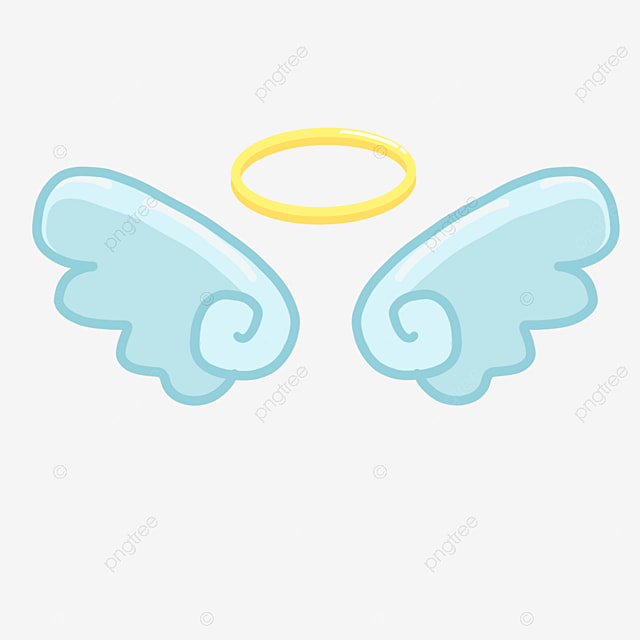 Wings cute. Hand drawn style angel