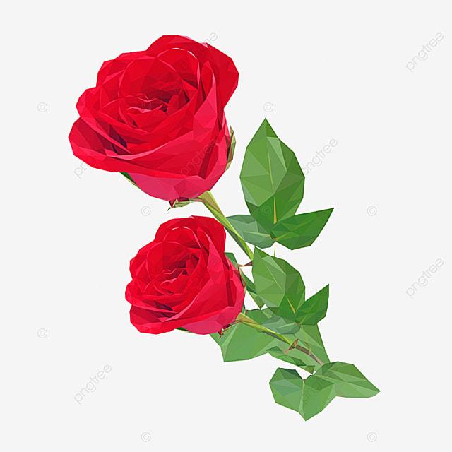 Gambar Bahan Tanaman Bunga Mawar Merah Clipart Mawar Merah Bahan Kartun Bunga Png Transparan Clipart Dan File Psd Untuk Unduh Gratis