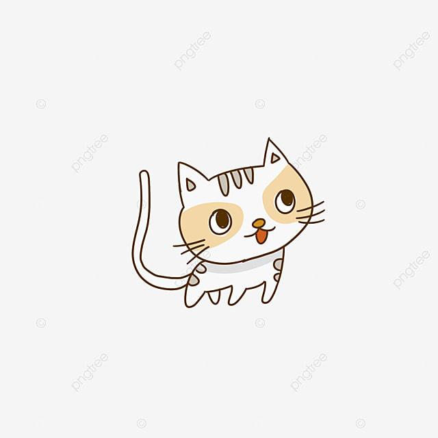 Sketsa Kartun Desain Elemen Kucing Lucu Imut Kartun Elemen Hewan Png Transparan Gambar Clipart Dan File Psd Untuk Unduh Gratis