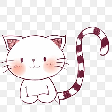 adorable animal cat small fresh, Decorative, Material, Illustrator PNG และ PSD