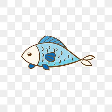 рыбка вектор мультфильм голубая рыба, Рыба, мультфильм, океан PNG ресурс рисунок и векторное изображение