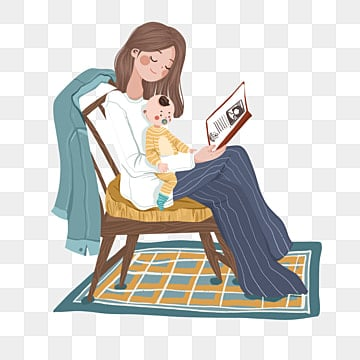 Free Download Parents And Babies Read Books Png Images