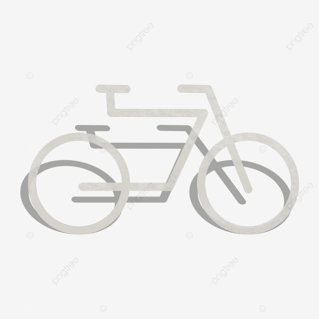 Cartoon Minimalist White Bicycle Decoration Material Decorative Element White Bicycle Png Transparent Clipart Image And Psd File For Free Download