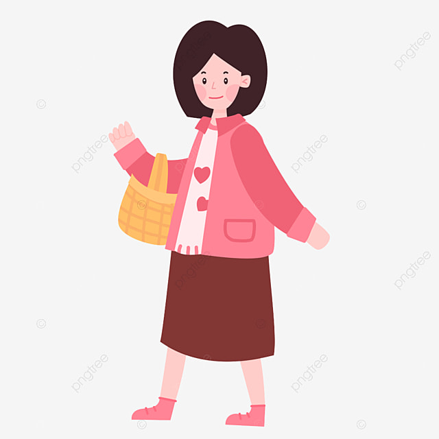 Cartoon Shopping Girl Character Png Element Cartoon Woman Beautiful Hand Drawn Cartoon Element Girl Girl Clipart Cartoon Clipart Png Transparent Clipart Image And Psd File For Free Download