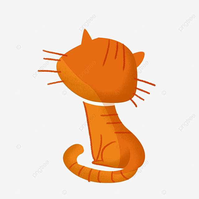 Cat Back Cartoon Png Material Cat Back Brown Cat Tiger Cat Png Transparent Clipart Image And Psd File For Free Download