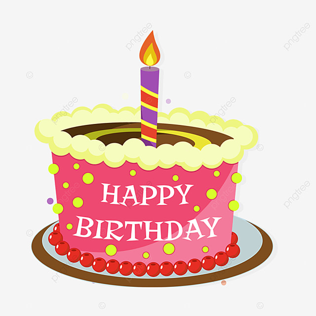 Cute Cartoon Birthday Cake Free Element Png PNG