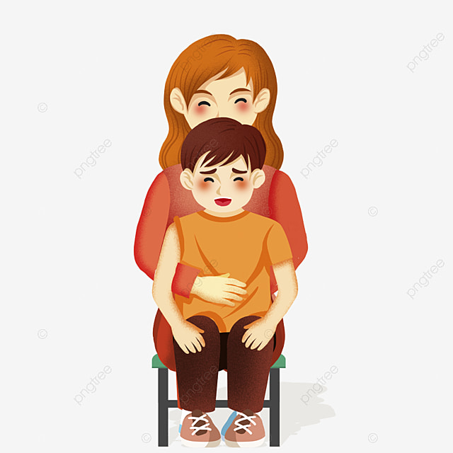 Anak Kecil Yang Ditarik Tangan Duduk Di Pangkuan Ibu Digambar Tangan Kartun Anak Laki Laki Png Transparan Gambar Clipart Dan File Psd Untuk Unduh Gratis