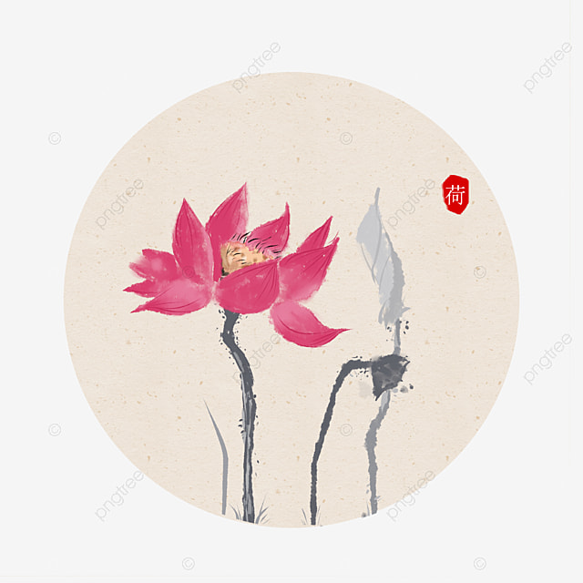 Lotus Chinese Painting Ink Painting Watercolor Flower And Bird