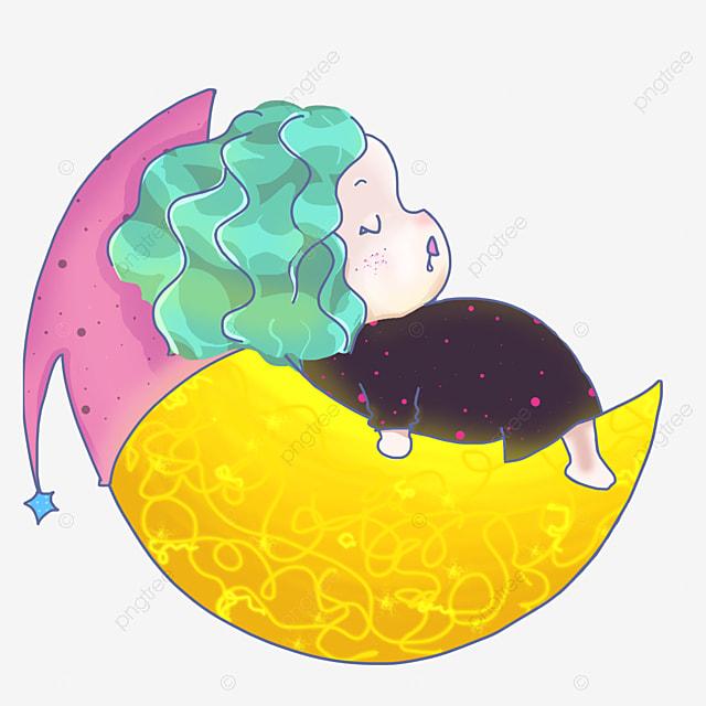 gadis kecil gemuk gemuk tidur di bulan ikon kartun versi q obesitas gemuk gadis kecil png transparan gambar clipart dan file psd untuk unduh gratis gadis kecil gemuk gemuk tidur di bulan