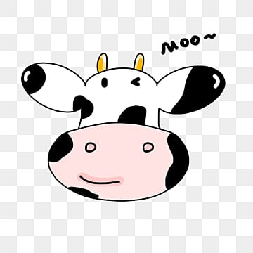 Free Download | White Spots Cow Head PNG Images, cow vector