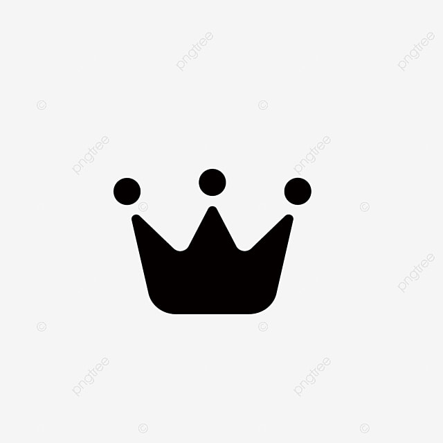 Black Crown Icon, Crown Icons, Black Icons, Crown Clipart PNG and Vector
