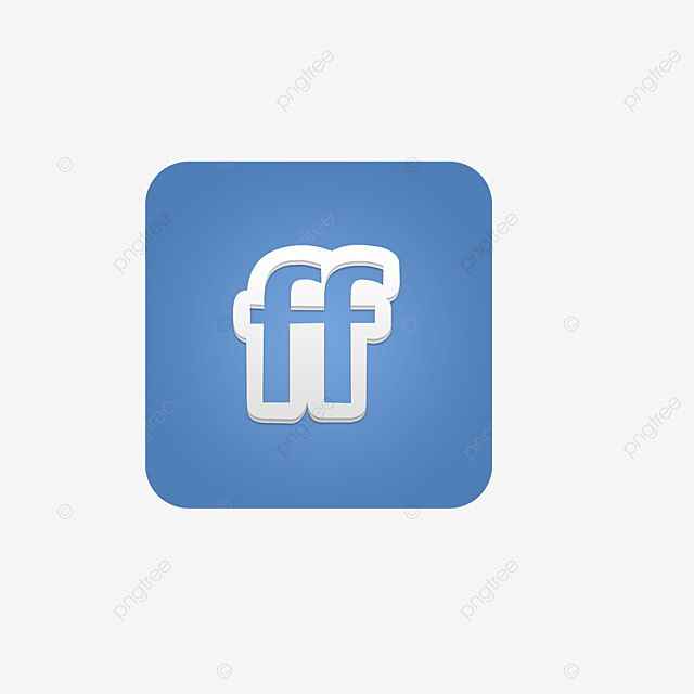 Blue And White Ff Letter Symbol Icon Free Button, Blue