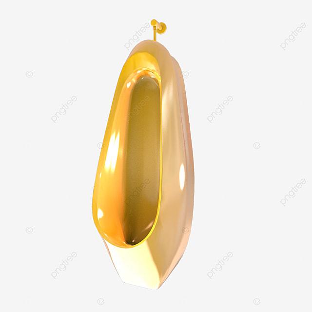C4d Gold Three Dimensional Creative Urinal, C4d Creative