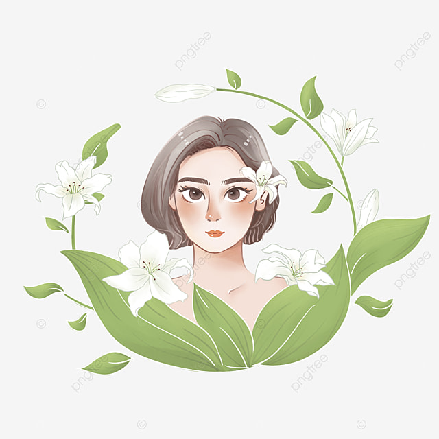 Gambar Kartun Gadis Bunga Unduh Bunga Dan Gadis Kecantikan Gadis Cantik Png Transparan Clipart Dan File Psd Untuk Unduh Gratis