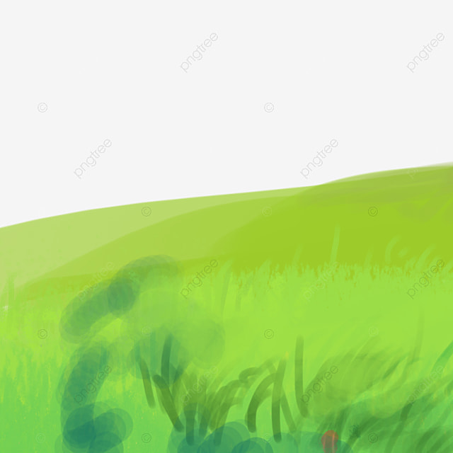 Cartoon Grass Green Land Grassland Mountain Png Transparent Clipart Image And Psd File For Free Download