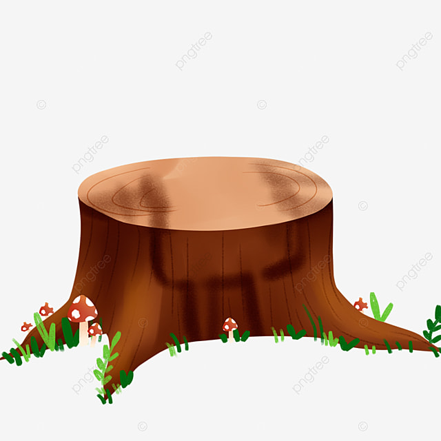 Cartoon Tree Stump Pattern Stump Cartoon Stump Plants Png Transparent Clipart Image And Psd File For Free Download