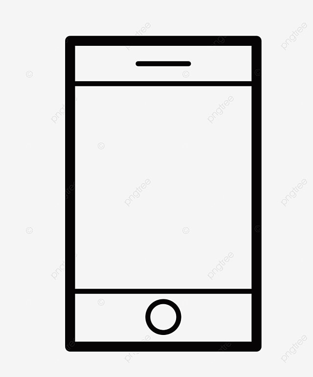 Cellphone Cartoon Black Line Drawing Icon Cell Phone Phone Black Line Drawing Png Transparent Clipart Image And Psd File For Free Download