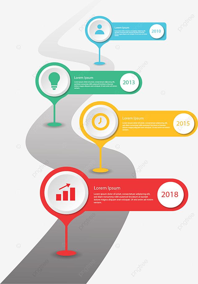 Color Label Flow Chart  Vector Png  Infographic  Flow