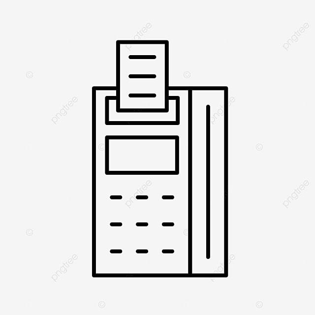 Flat POS Machine Icon Download, Pos Machine, Credit Card
